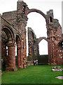 NU1241 : Lindisfarne Priory by Chris Gunns