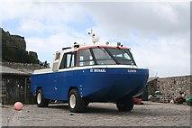SW5130 : Amphibious vehicle, St. Michael's Mount by Bob Embleton