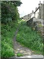 SE1422 : Old path off Lord's Lane, Rastrick by Humphrey Bolton