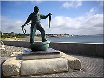 SW4629 : Fishermen memorial, Newlyn by Bob Embleton