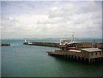 SW4628 : Newlyn Slip and the south pier by Bob Embleton