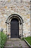 SD6178 : St Mary's Church, Kirkby Lonsdale, Cumbria - Doorway by John Salmon