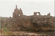 NO5101 : Ruins of Newark Castle on the cliffs near St Monans by Sarah Charlesworth