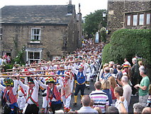 SD9906 : Rushcart arrives in Dobcross by Paul Anderson