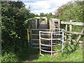 SP7628 : Footbridge over disused railway by simon lutman