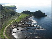 C9444 : The Giant's Causeway from Cliff Path by Sue Adair