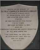 SU7037 : Plaque to Jane Austen's nephew within St Nicholas, Chawton by Basher Eyre