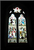 SU7037 : South facing stained glass window within St Nicholas, Chawton by Basher Eyre