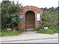 TM3959 : Bus Shelter on the B1069 Church Road by Geographer