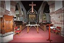 SD4983 : St Peter's Church, Heversham, Cumbria - Chancel by John Salmon
