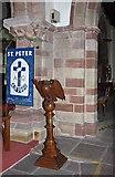 SD4983 : St Peter's Church, Heversham, Cumbria - Lectern by John Salmon
