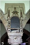 SD4983 : St Peter's Church, Heversham, Cumbria - Wall monument by John Salmon