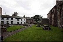 SD4983 : St Peter's Church, Heversham, Cumbria - Churchyard by John Salmon