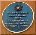 Photo of Winston Churchill blue plaque