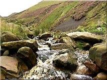 SK1087 : Climbing Grindsbrook Clough by Steve  Fareham