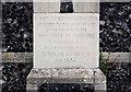 TL7199 : Christ Church, Whittington, Norfolk - Foundation stone by John Salmon