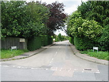 TR3256 : Entrance to John's Green off Dover Road by Nick Smith