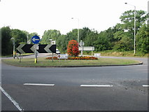 TR3256 : Sponsored roundabout on A258 outside Sandwich by Nick Smith