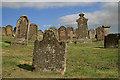 NT8655 : Chirnside Parish Church graveyard by Walter Baxter