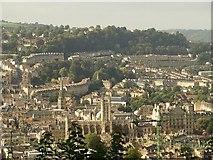ST7564 : Bath Abbey and north-eastern Bath from Beechen Cliff by Derek Harper