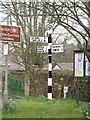 NY5046 : Signpost, Armathwaite by Richard Webb