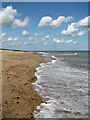 TG4822 : Beach north of Winterton Ness by Evelyn Simak