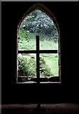 SE2768 : Cross, Cellarium window, Fountains Abbey by Rob Farrow
