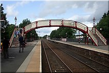 NY6820 : Appleby-in-Westmorland Station : Footbridge by Rob Farrow