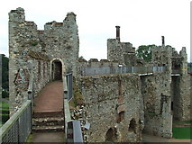 TM2863 : Castle wall by Keith Evans