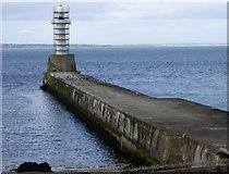 NJ9605 : South breakwater, Aberdeen Harbour by Stanley Howe