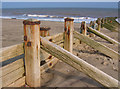 TA4011 : Groynes, Spurn Beach by Stephen Horncastle
