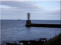 NJ9605 : South Breakwater light by Stanley Howe