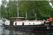 SU9577 : Dutch barge at Windsor by Graham Horn