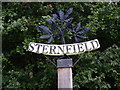 TM3961 : Sternfield Village Sign by Adrian Cable