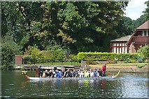 TQ0072 : Dragon boat practice by Graham Horn