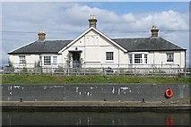 TQ0566 : Chertsey Lock House by Graham Horn