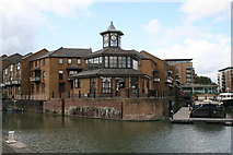 TQ3680 : Marina office, Limehouse Basin by Dr Neil Clifton