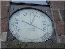 NO8785 : Public Barometer on the Town House of Old Stonehaven by Nick Mutton