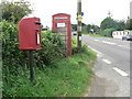 ST9713 : Cashmoor: postbox № DT11 77 and phone box by Chris Downer