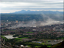 J3279 : Belfast and the Mourne Mountains from McArts Fort by Rossographer