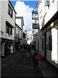 SX2553 : East Looe's High Street: Fore Street by Ulrich Hartmann