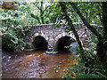 SM9828 : Footbridge over the Afon Anghof by ceridwen