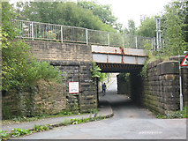 SE1537 : Dock Lane railway bridge by Stephen Craven
