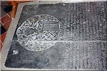 TR3451 : St Martin, Great Mongeham, Kent - Ledger slab by John Salmon