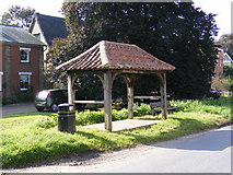 TM3569 : Peasenhall Bus Shelter by Adrian Cable