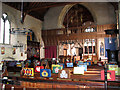 TG3136 : The church of All Saints - view across nave by Evelyn Simak