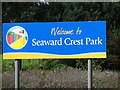 TG3036 : Sign at the entrance of Seaward Crest Holiday Park by Evelyn Simak