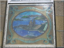 HU4039 : Scalloway Town Hall - stained glass window by Nick Mutton