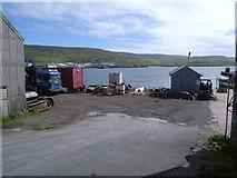 HU4039 : Yard at shore of Blacks Ness, Scalloway by Nick Mutton