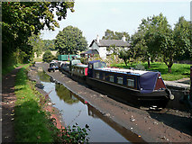 SO8785 : Stranded boats on the Stourbridge Canal by Roger  Kidd